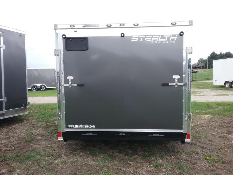 """7x14 (-6"""" Reduced Height) Stealth Titan Blackhawk Motorcycle Trailer*HAIL DAMAGED-CALL FOR DISCOUNT PRICING*"""