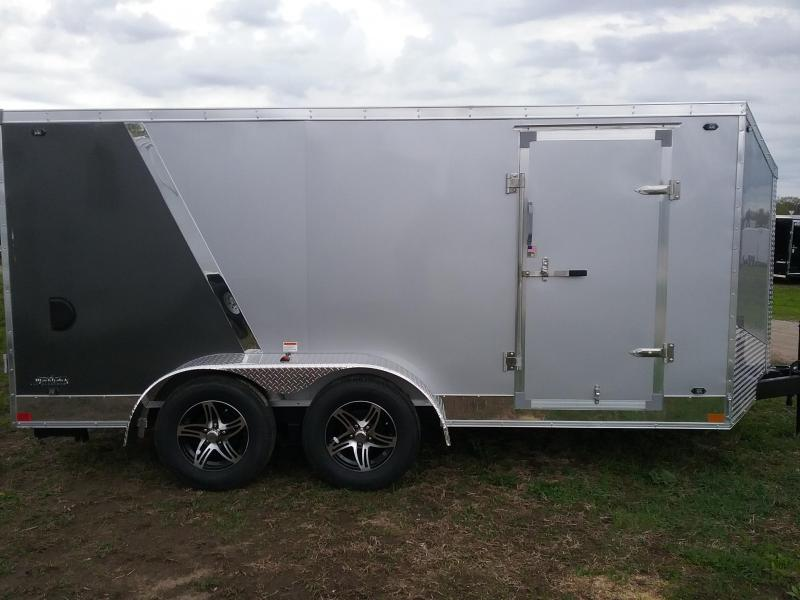 "7x14 (-6"" Reduced Height) Stealth Titan Blackhawk Motorcycle Trailer*HAIL DAMAGED-CALL FOR DISCOUNT PRICING*"