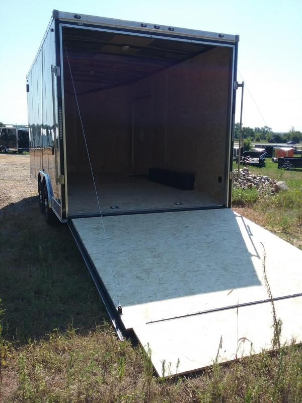 """8.5x16 (+12"""" Additional Height) Stealth Titan Enclosed Trailer with 5200# Axles"""