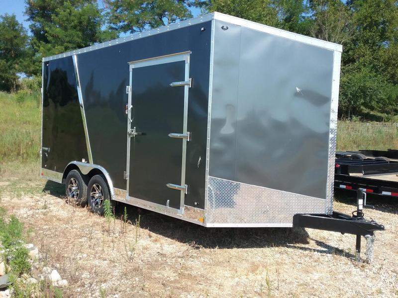 "8.5x16 (+12"" Additional Height) Stealth Titan Enclosed Trailer with 5200# Axles"