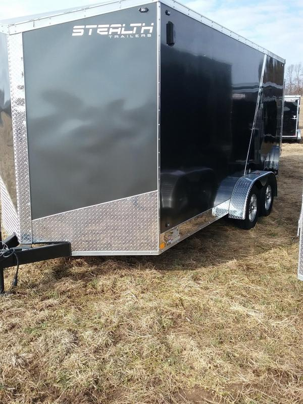 "7x16 (+12"" Additional Height) Stealth Titan Enclosed Cargo Trailer with Flash Package *HAIL DAMAGED-CALL FOR DISCOUNT PRICING*"
