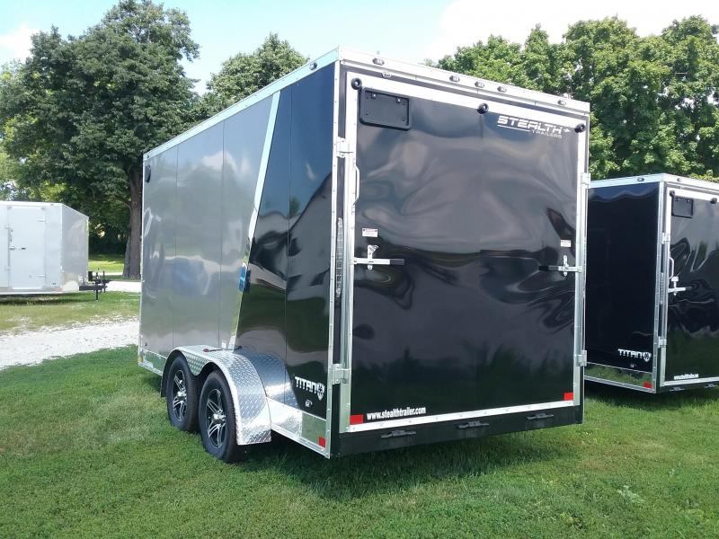 7X16 (Plus 6 Inches Interior Height) Stealth Titan Enclosed Cargo Trailer