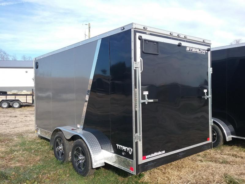 "2019 Stealth Titan 7x14 (+"" ""Additional Height) Enclosed Cargo Trailer"