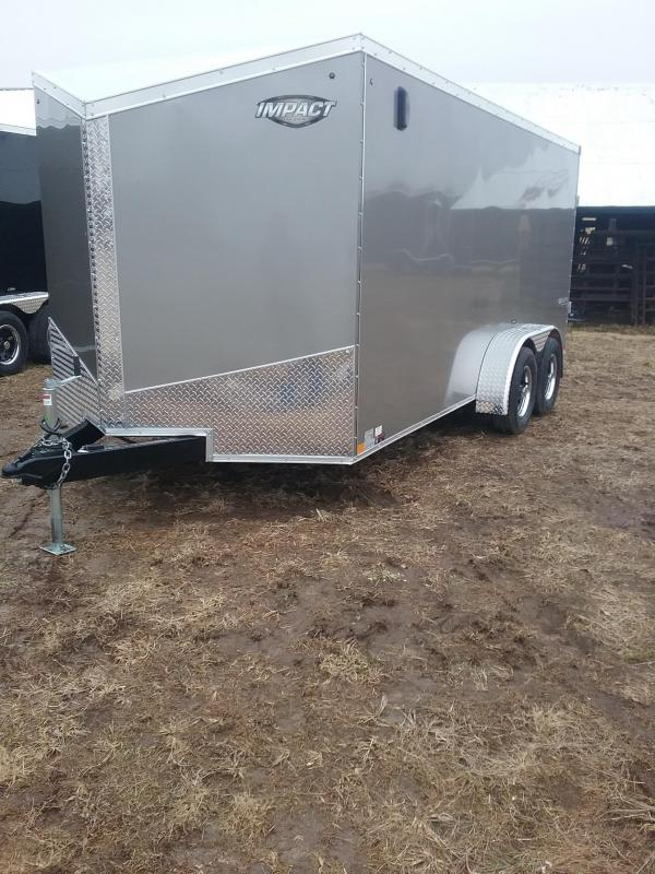 2019 Impact 7x16 Tremor Enclosed Cargo Trailer