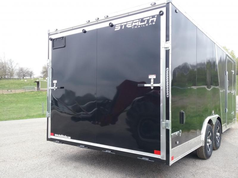 2019 Stealth Trailers 8.5x20 Titan with 5200 Axles Enclosed Cargo Trailer *HAIL DAMAGED-CALL FOR DISCOUNT PRICING*