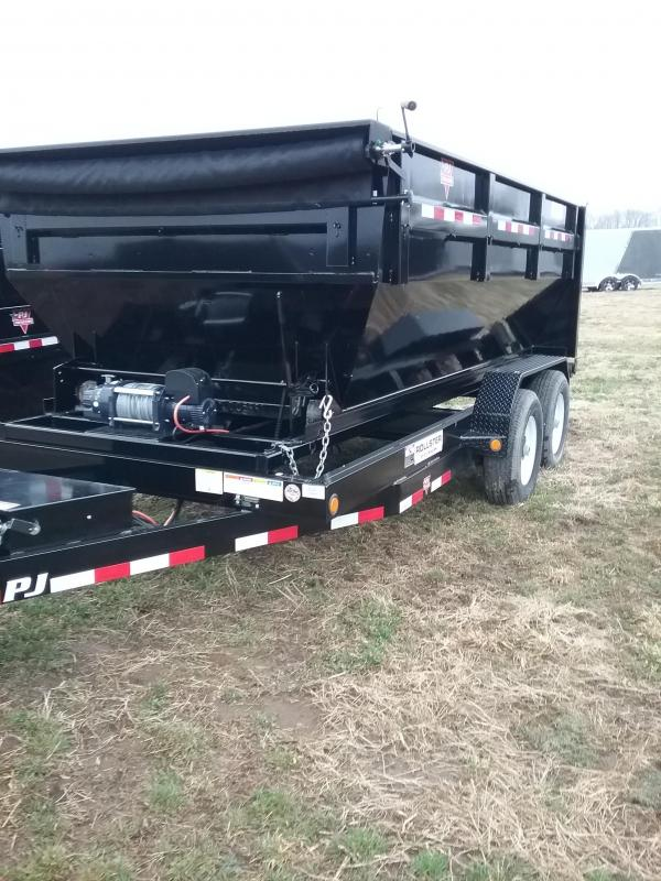 2019 PJ Rollster with Two Boxes Dump Trailer