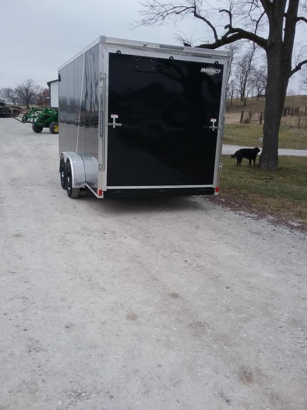 "2019 Impact Shockwave 7x16 (+12"" Additional Height) Enclosed Cargo Trailer"