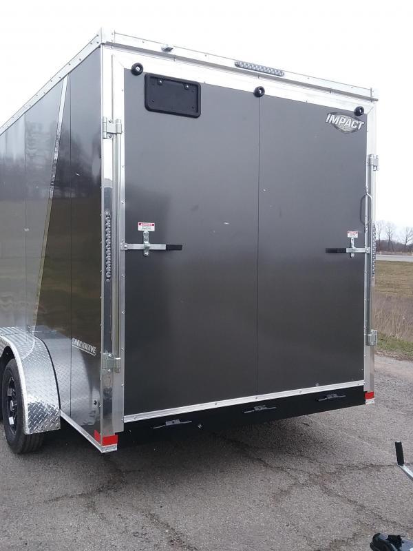 Impact 7X14 Plus 12 Inches Shockwave Enclosed Cargo Trailer
