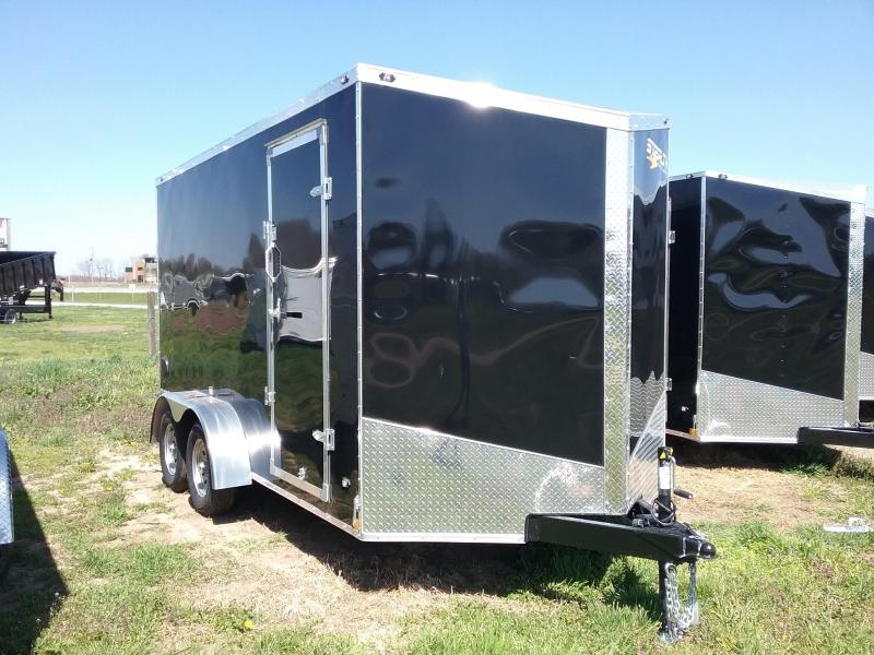 "7X14 (+12"" Extra Interior Height) Stealth Titan Enclosed Cargo Trailer"