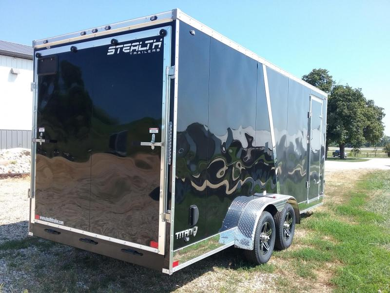"""7x18 (+12"""" Additional Height) Stealth Titan Enclosed Trailer"""