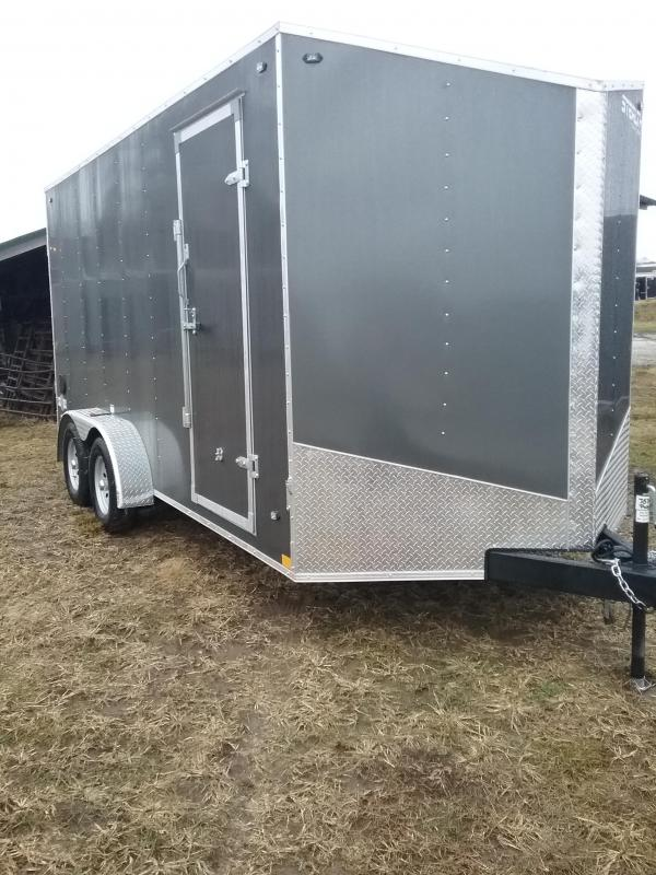 "2019 Stealth 7x16 (+12"" Additional Height) Mustang Enclosed Cargo Trailer"