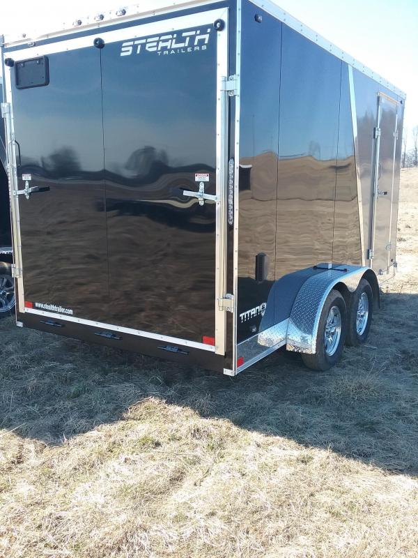 """7x14 (+12"""" Additional Height) Stealth Titan Enclosed Cargo Trailer"""