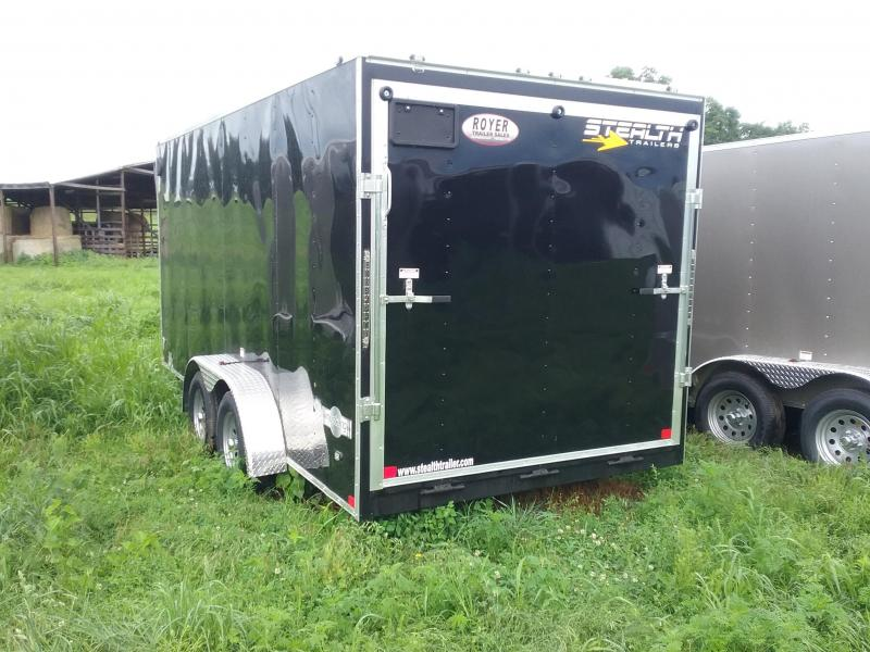 """7X16 (+6"""" Extra Interior Height) Stealth Mustang Enclosed Cargo Trailer"""