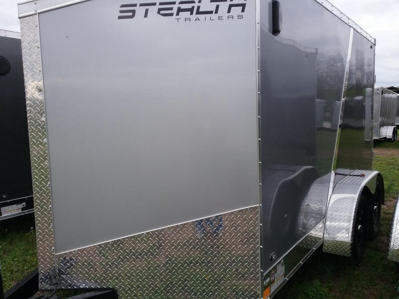 7x12 Stealth Titan Blackhawk Motorcycle Trailer*HAIL DAMAGED-CALL FOR DISCOUNT PRICING*