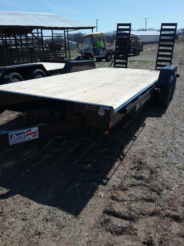 2019 Liberty 83x20 Liberty Equipment Trailer With Pin Up Ramps
