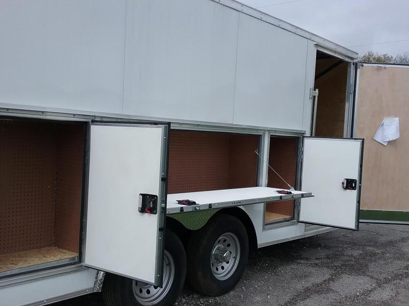 8.5x16 Stealth Titan Enclosed Trailer with 5200# Axles and Tool Crib Package *HAIL DAMAGED-CALL FOR DISCOUNT PRICING*