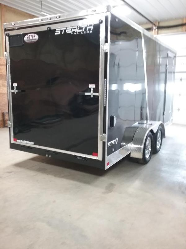 "7x16 (+12"" Additional Height) Stealth Titan Enclosed Cargo Trailer*HAIL DAMAGED-CALL FOR DISCOUNT PRICING*"