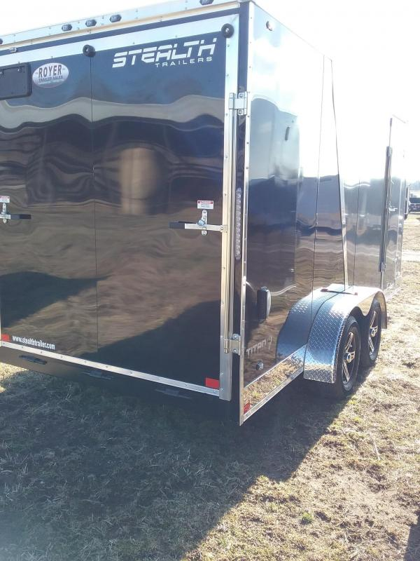 """7x16 (+12"""" Additional Height) Stealth Titan Enclosed Cargo Trailer with Flash Package"""