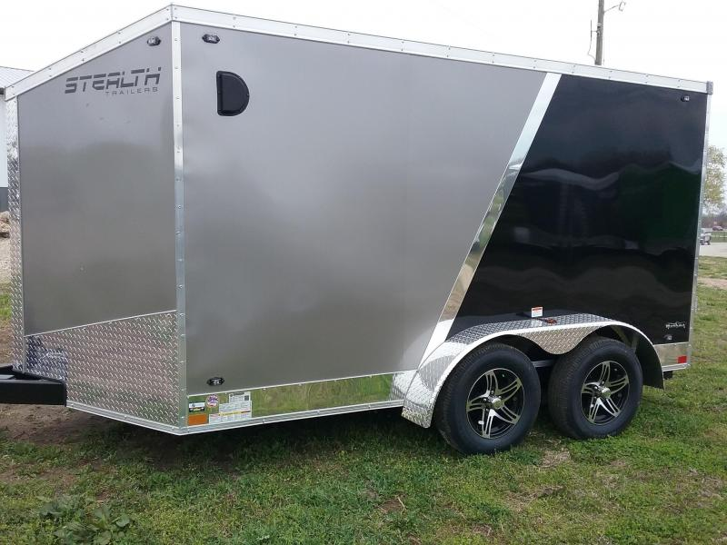 7x12 Stealth Titan Blackhawk Motorcycle Enclosed Cargo Trailer *HAIL DAMAGED-CALL FOR DISCOUNT PRICING*