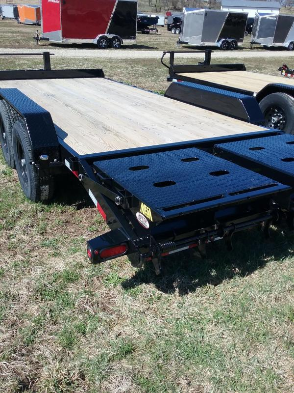 14K-18' Big Tex Equipment Trailer with Dovetail and Megaramps