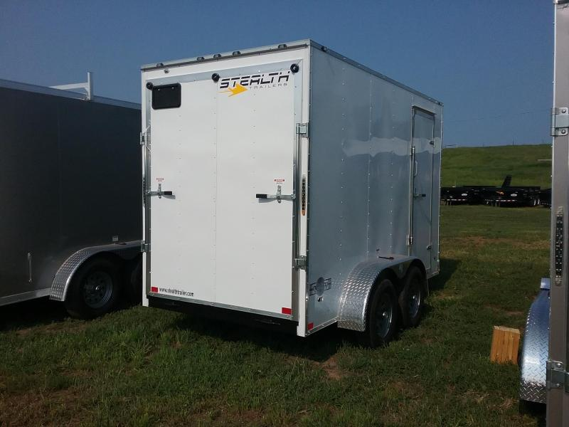 """6X12 (+12"""" Extra Height) Stealth Mustang Enclosed Cargo Trailer"""