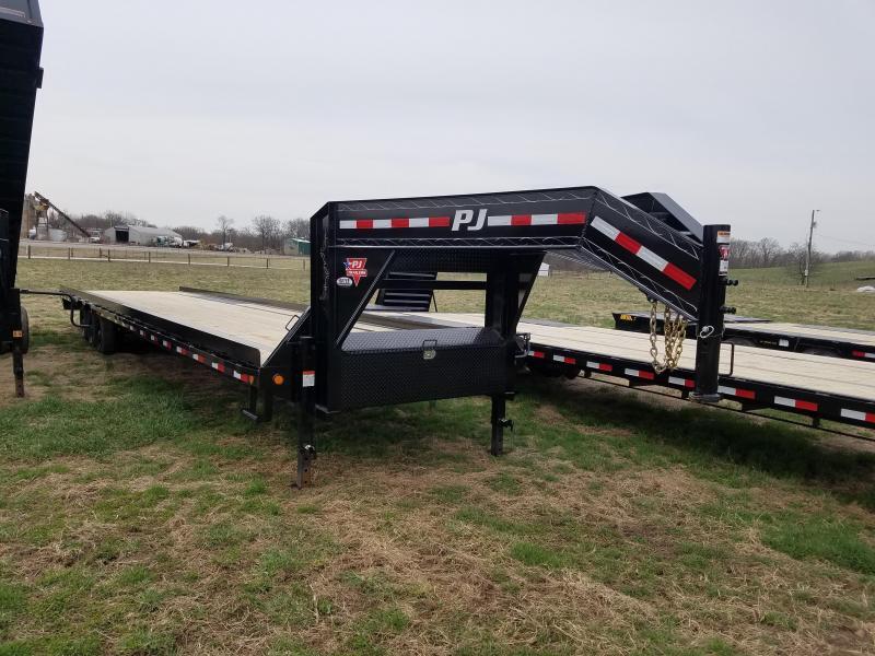 40' PJ Gooseneck Deckover with 8' Slide In Ramps 21K GVWR in Ashburn, VA