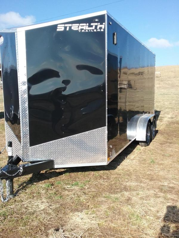 "7x16 (+12"" Additional Height) Stealth Mustang Enclosed Cargo Trailer *HAIL DAMAGED-CALL FOR DISCOUNT PRICING*"