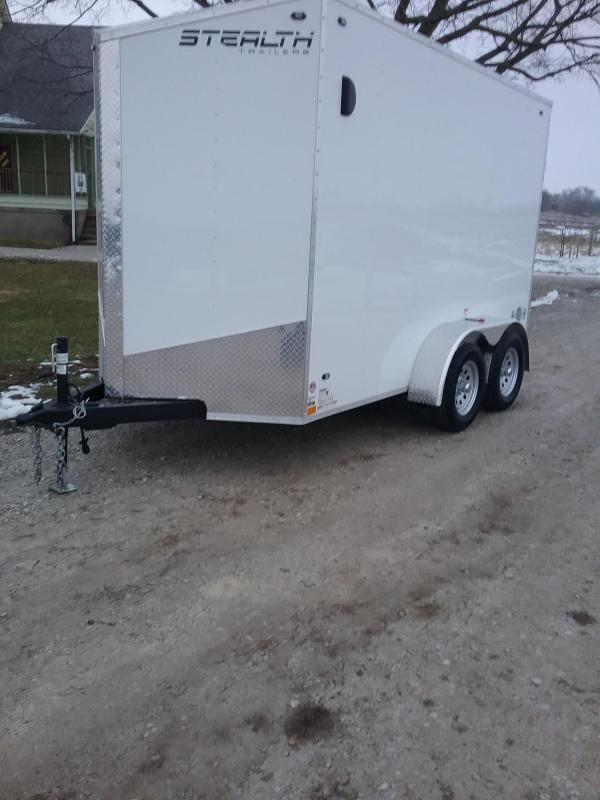 6x12 Stealth Mustang Enclosed Cargo Trailer*HAIL DAMAGED-CALL FOR DISCOUNT PRICING*