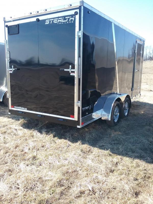 "2019 Stealth 7X16 (+12"" Additional Height) Titan Enclosed Cargo Trailer"
