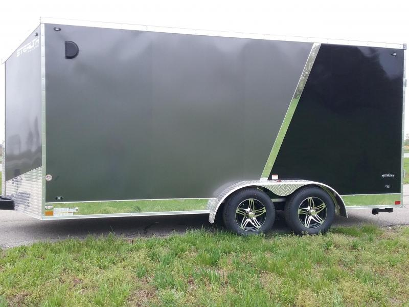 "7x16 (+12"" Additional Height) Stealth Titan Blackhawk Motorcycle Trailer *HAIL DAMAGED-CALL FOR DISCOUNT PRICING*"