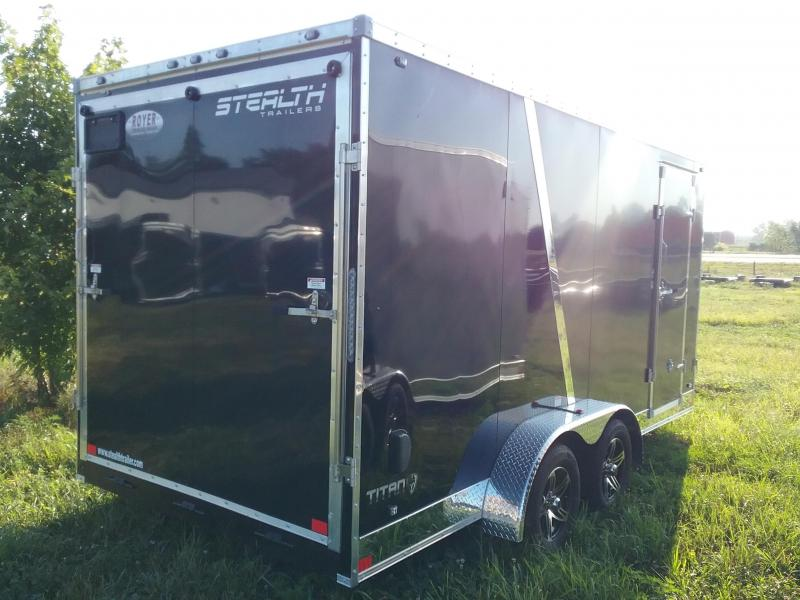 """7x16 (+12"""" Additional Height) Stealth Titan Enclosed Trailer"""
