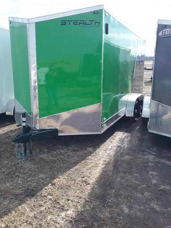 "7x16 (+12"" Additional Height) Stealth Titan Enclosed Cargo Trailer with Flash Package*HAIL DAMAGED-CALL FOR DISCOUNT PRICING*"