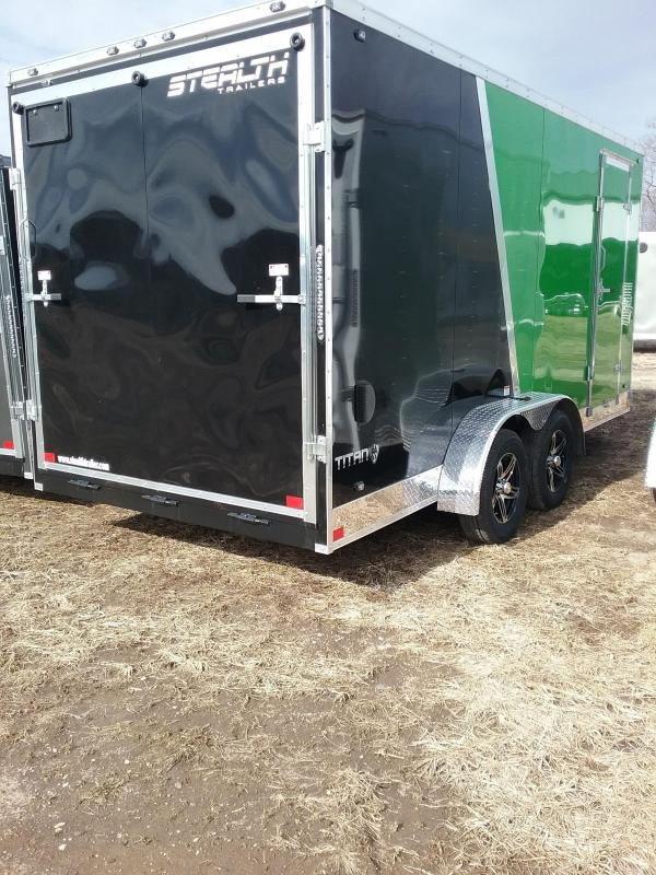 "7x16 (+12"" Additional Height) Stealth Titan Enclosed Cargo Trailer with Flash Package"