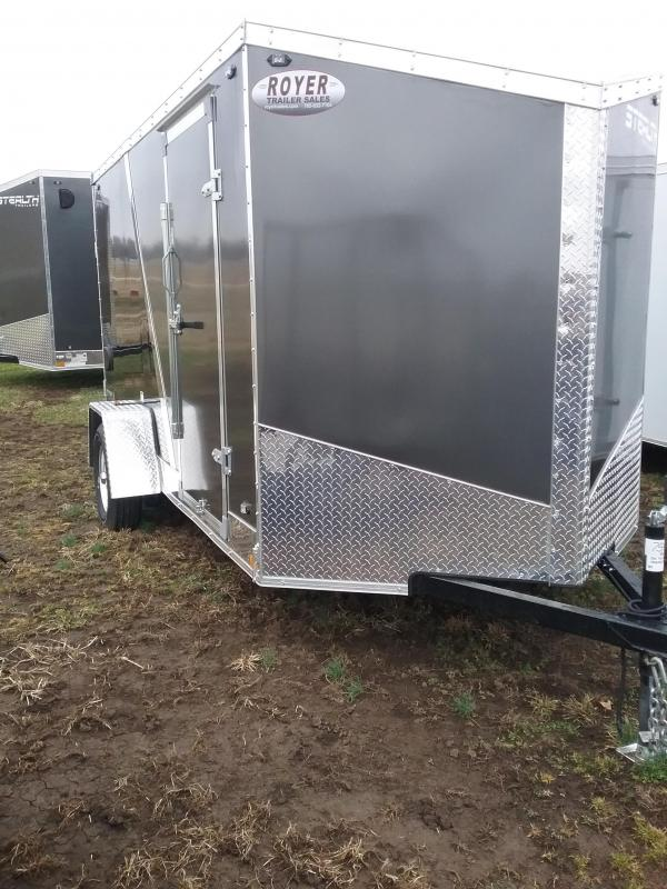 6x12 Stealth Titan Enclosed Cargo Trailer with Flash Package*HAIL DAMAGED-CALL FOR DISCOUNT PRICING*