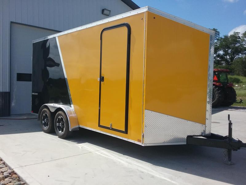 "7x16 (+12"" Extra Height) Impact Shockwave Enclosed Cargo Trailer"