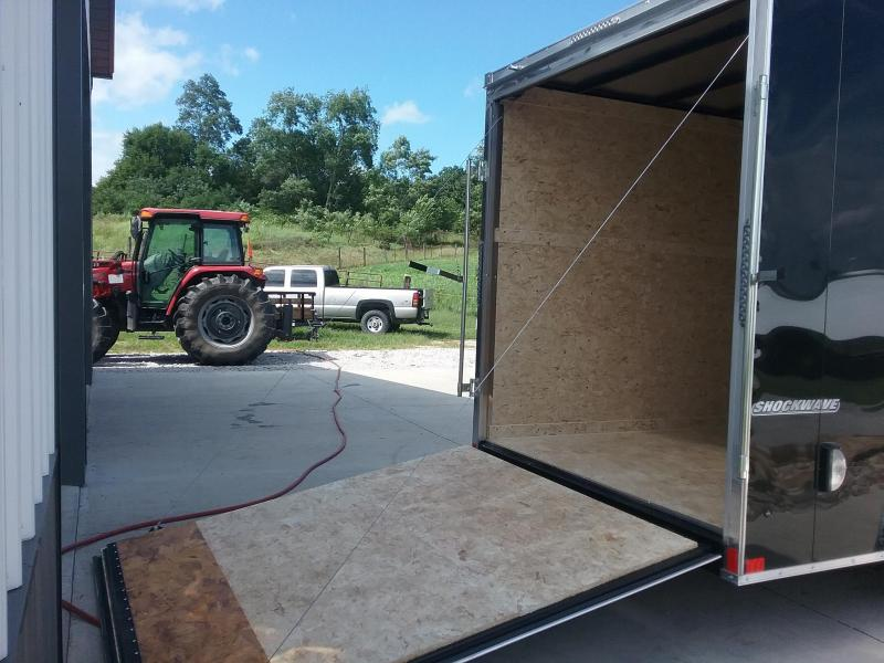 """7x16 (+12"""" Extra Height) Impact Shockwave Enclosed Cargo Trailer"""