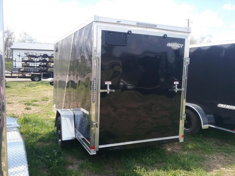 6X12 Plus 6 Inches Impact Shockwave Enclosed Cargo Trailer