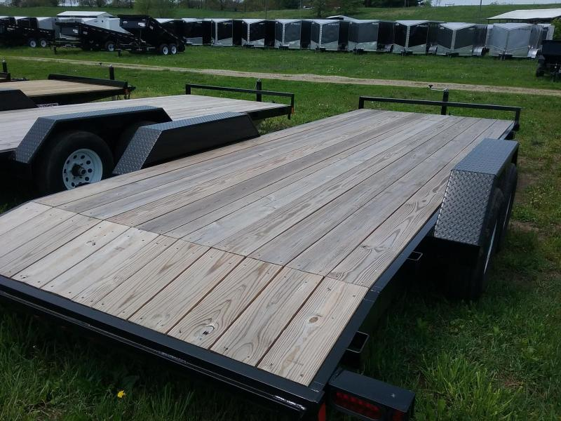 """82""""x20' Liberty 10K Car Hauler with Dovetail and 5' Slide in Ramps"""