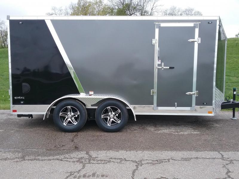 7x14 Stealth Titan Motorcycle Trailer*HAIL DAMAGED-CALL FOR DISCOUNT PRICING*