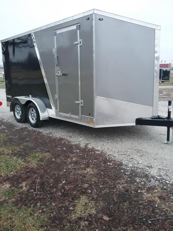"7x14 (+6"" Additional Height) 2019 Stealth Titan Enclosed Cargo Trailer*HAIL DAMAGED-CALL FOR DISCOUNT PRICING*"