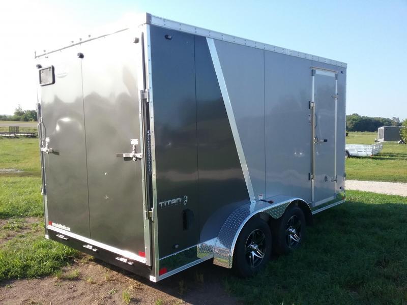 """7x14 (+12"""" Additional Height) Stealth Titan Enclosed Trailer"""