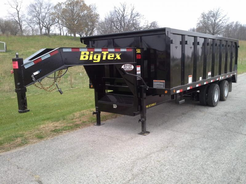 Big Tex Trailers 25DU -20' Gooseneck Dump Trailer