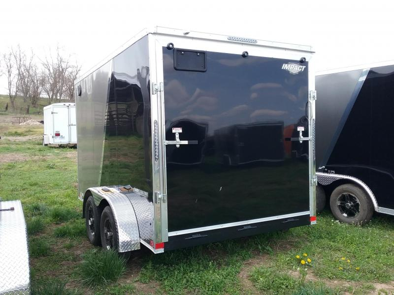 7X12 Plus 6 Inches Impact Shockwave Enclosed Cargo Trailer