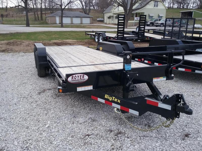 Big Tex 14TL 20'Tilt Trailer/16'Tilt Plus 4' Stationary Equipment Trailer