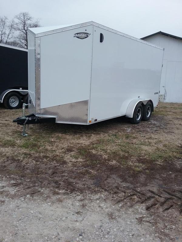"7x16 (+12"" Additional Height) Impact Tremor Enclosed Cargo Trailer"