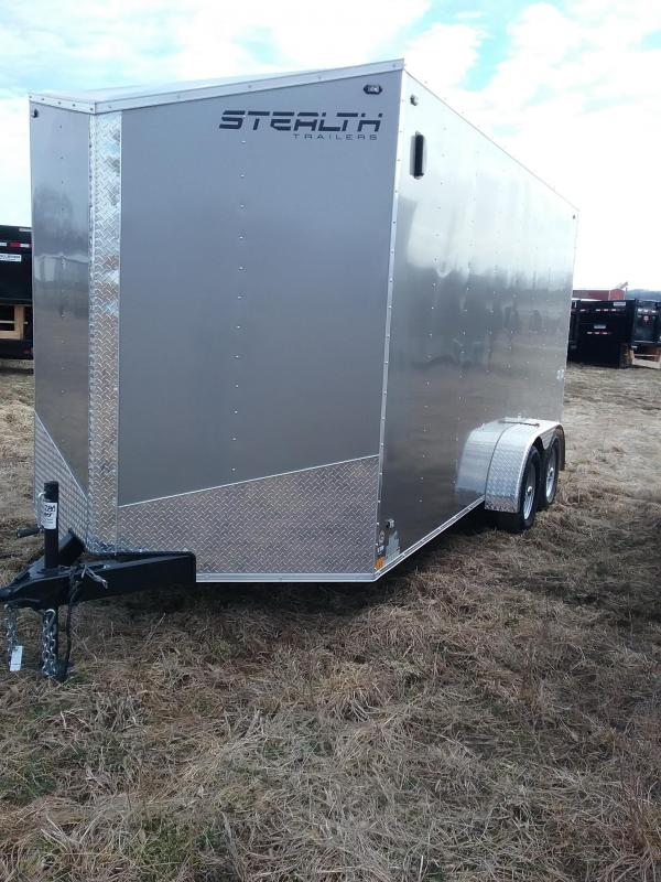 "7x16 (+12"" Additional Height) Stealth Mustang Enclosed Trailer*HAIL DAMAGED-CALL FOR DISCOUNT PRICING*"