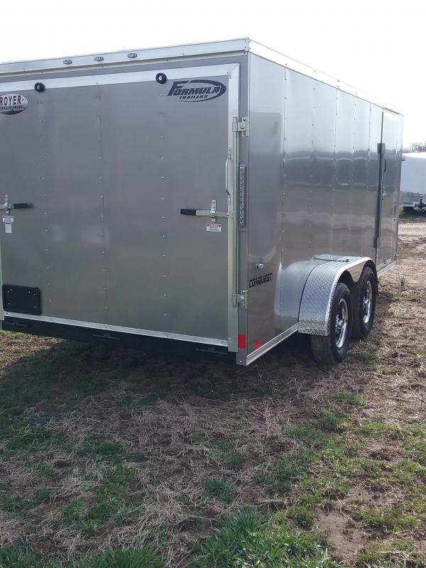7x16 Formula Conquest Enclosed Cargo Trailer*HAIL DAMAGED-CALL FOR DISCOUNT PRICING*