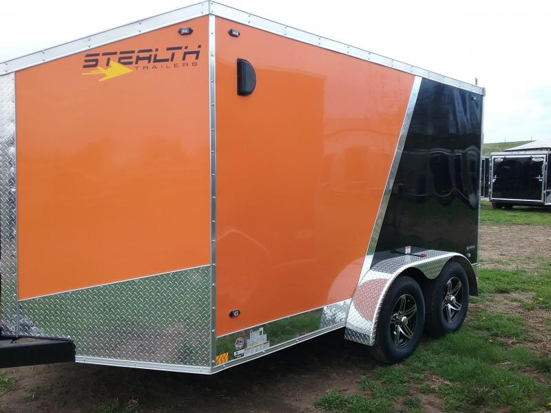 7x12 Stealth Titan Blackhawk Motorcycle Enclosed Cargo Trailer