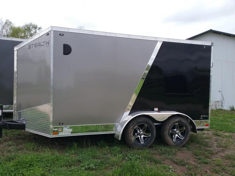 7x12 Stealth Titan Blackhawk Enclosed Motorcycle Trailer*HAIL DAMAGED-CALL FOR DISCOUNT PRICING*