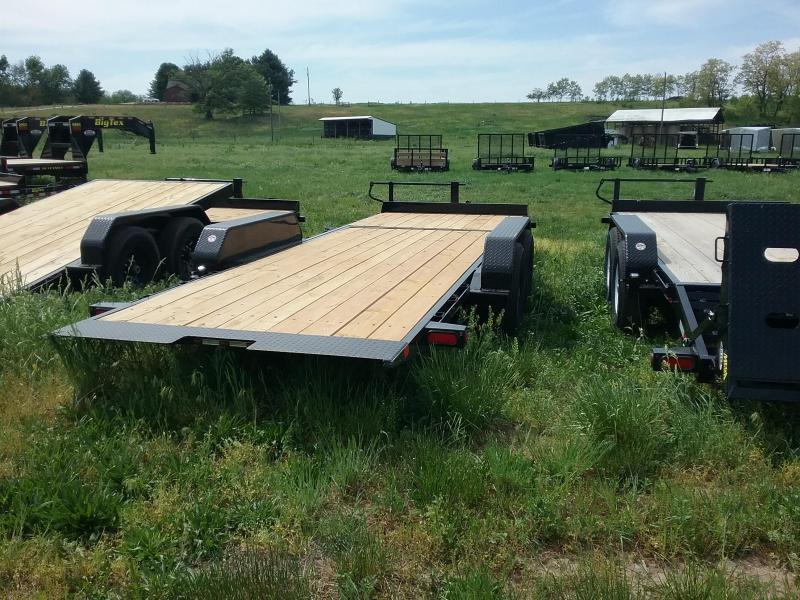 14TL 22' Tilt Trailer 16' Tilt Plus 6' Stationary Big Tex Equipment Trailer